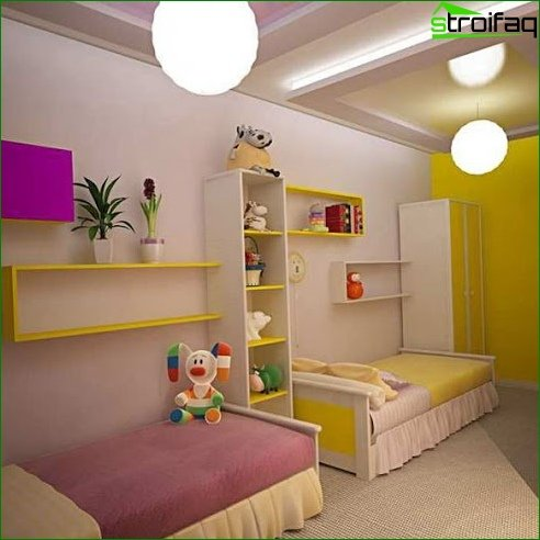 Zoning a room using different color schemes 8