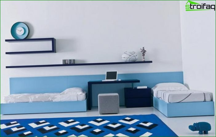 Zoning a room using different color schemes 11