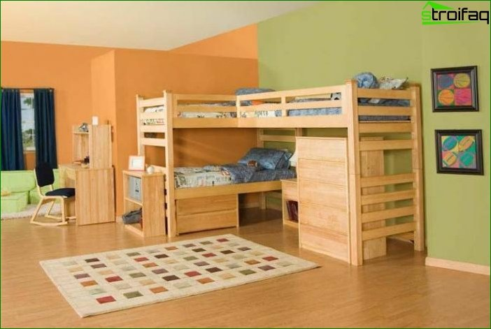Zoning a room using different color schemes 13