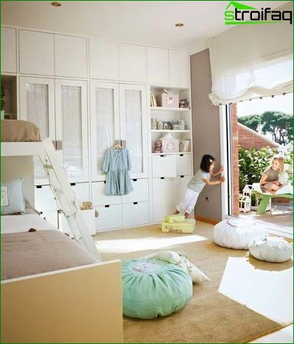 ? Design of a large nursery 18 sq.m 3