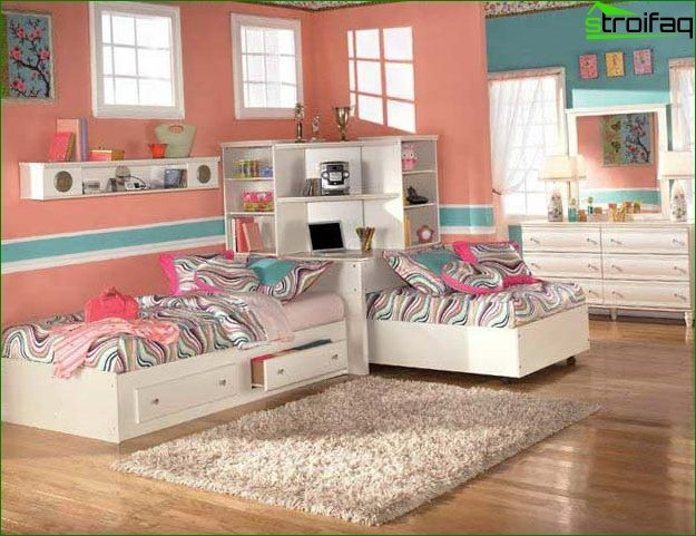 ? Design of a large nursery 18 sq.m