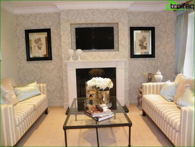 Papel tapiz de papel fotográfico para la sala de estar