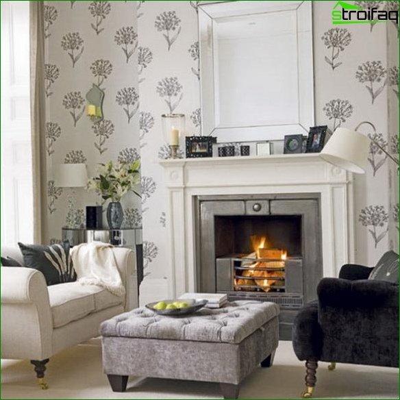 Papel tapiz fotográfico para la sala de estar