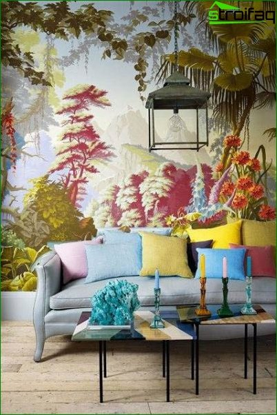 Wall mural for living room 2