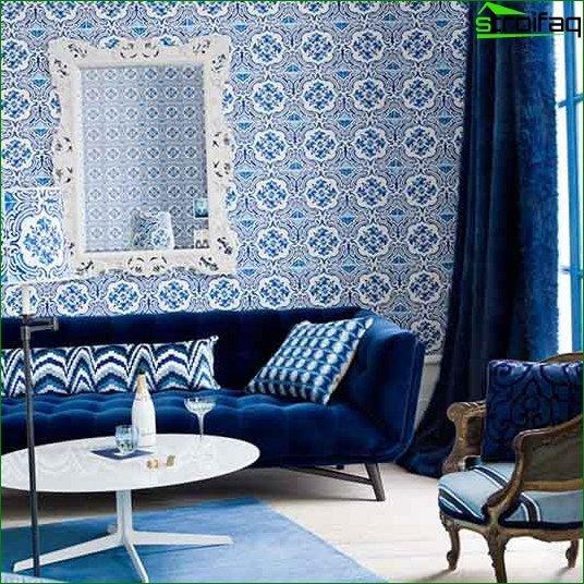 Modern wallpaper for the living room - photo