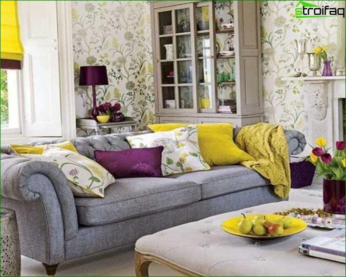 Wallpaper for the living room