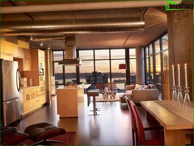 Foto de un diseño de apartamento tipo estudio tipo loft