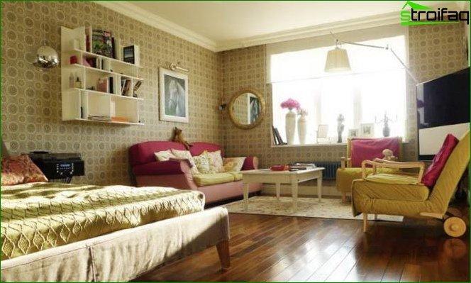 Foto de diseño de apartamento estudio de estilo provenzal