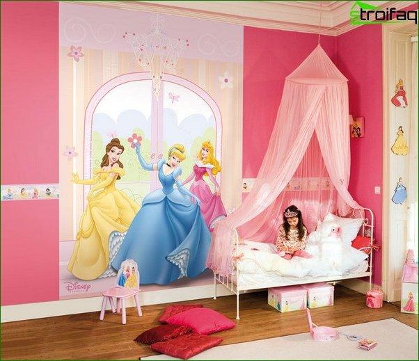 Habitación para una niña de 2-3 años 4