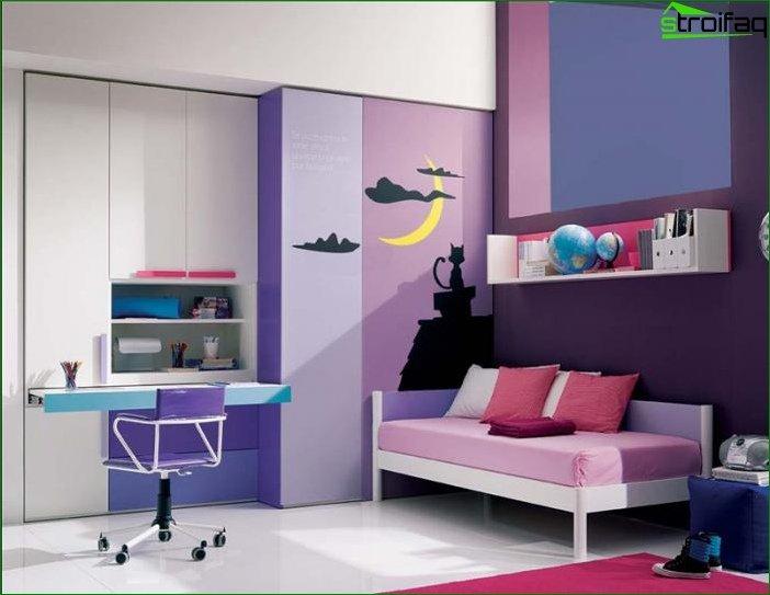 Habitación para niñas de 10 a 12 años.
