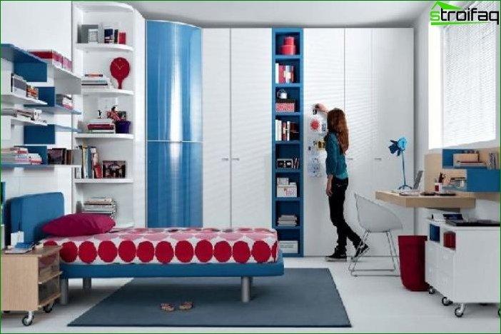 Interior de habitación de adolescente