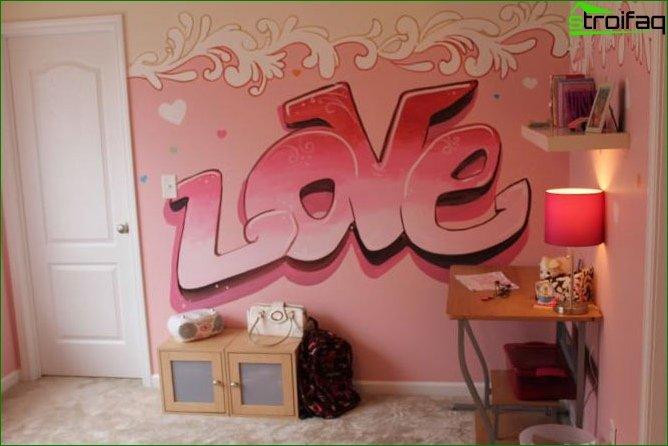 Interior de la habitación para niña adolescente 6