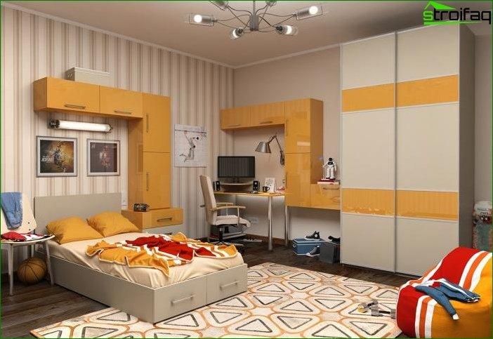 Diseño de sala de 20-30 m2.