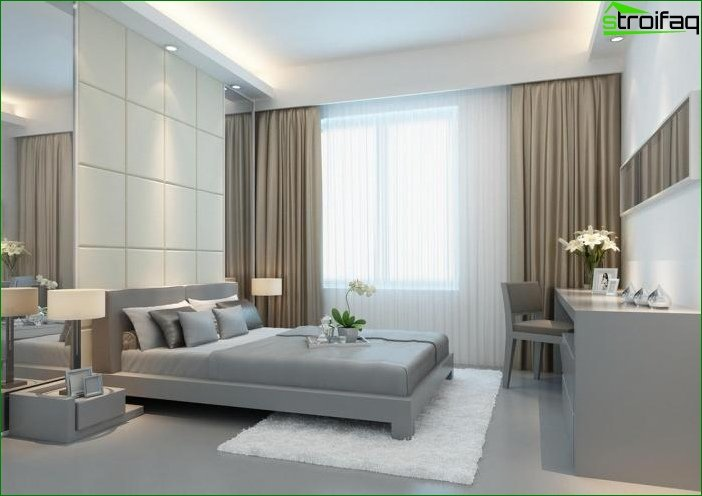 Photo curtains for the bedroom in the style of minimalism
