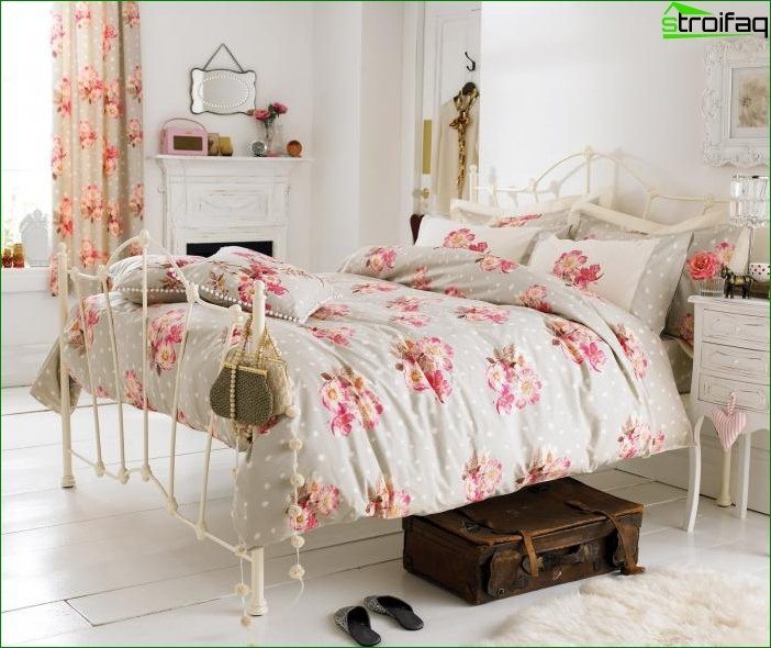 Photo curtains for the bedroom in the style of provence