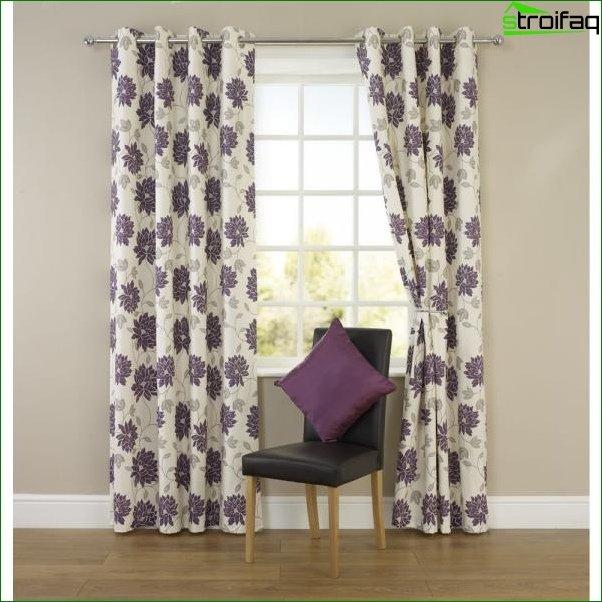 Tipos de cortinas para el dormitorio.