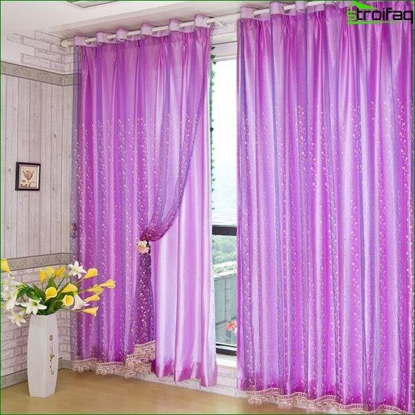 Foto cortinas en el dormitorio