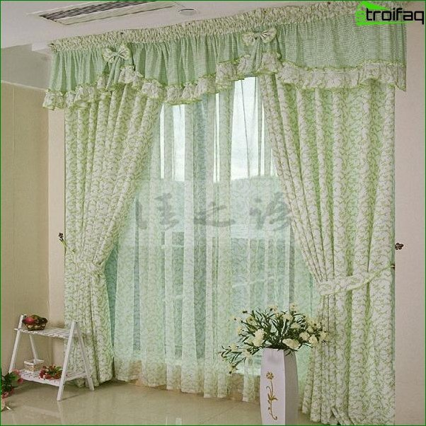 Photo curtains in the bedroom 9