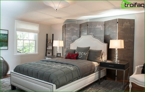 Trends 2017 in the design of the bedroom (neutral shades) - 3