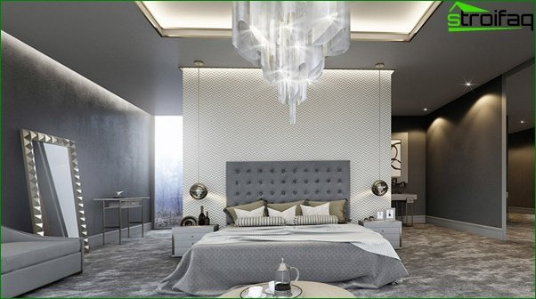 Trends 2017 in the design of the bedroom (neutral shades) - 4