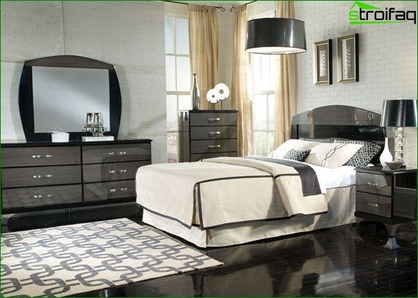 Trends 2017 in the design of the bedroom (neutral shades) - 5
