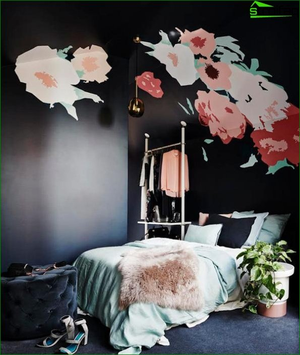 Bedroom 2017 (bright accents) - 1