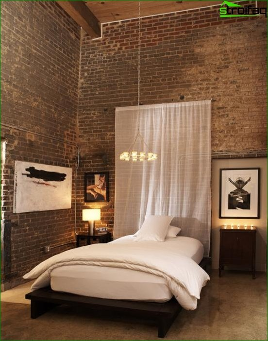 Trends 2017 in the design of the bedroom (wall) - 1