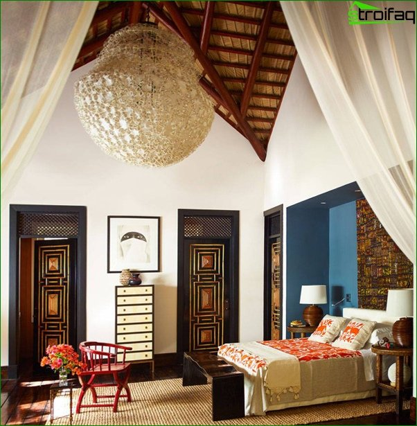 Trends 2017 in the design of the bedroom (East) - 2