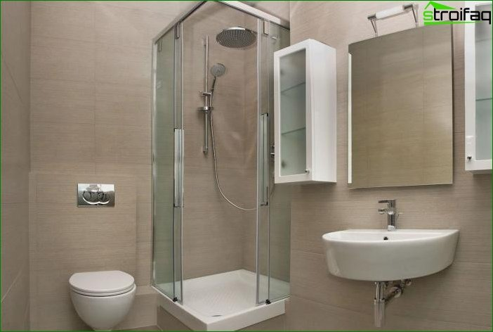 Design a small bathroom: ideas for visual enhancement of the interior