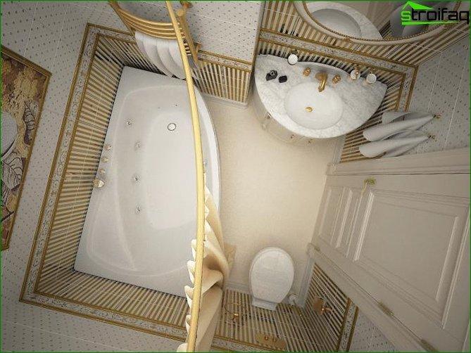 Design of a bathroom for Khrushchev or a prefabricated house