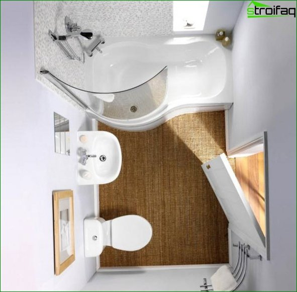 Design of a bathroom in Khrushchev