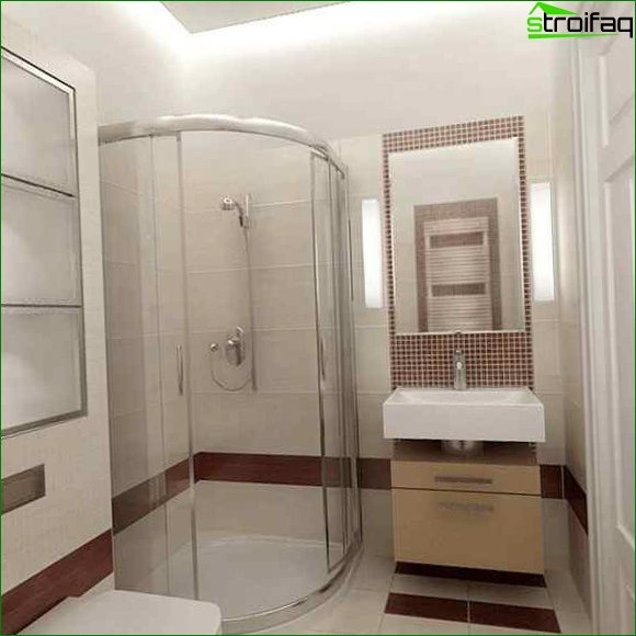 The interior of the bathroom in Khrushchev