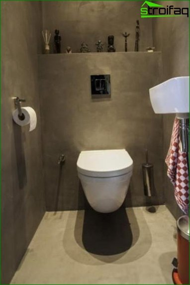 Color scheme for toilet design