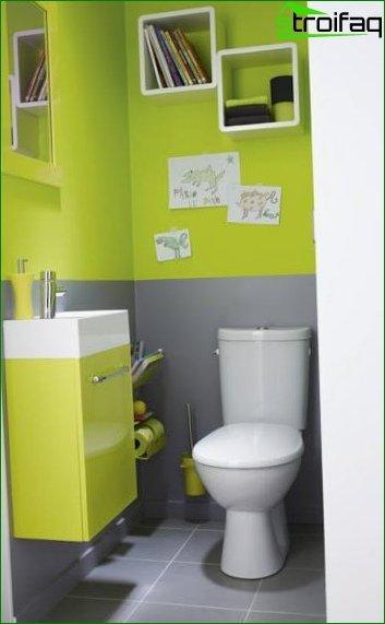 Color scheme for toilet design 6