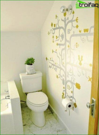 Color scheme for toilet design 15