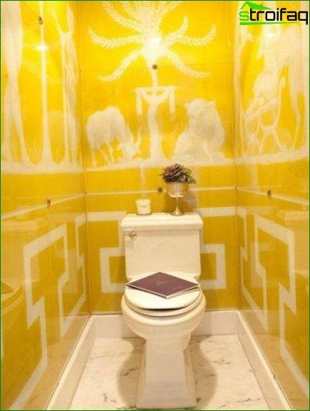 Color scheme for toilet design 16