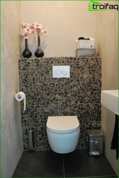 The design of the toilet is 1.5 square meters. m