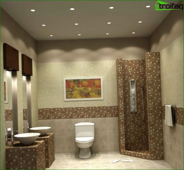 Techniques for a visual increase in toilet area 2