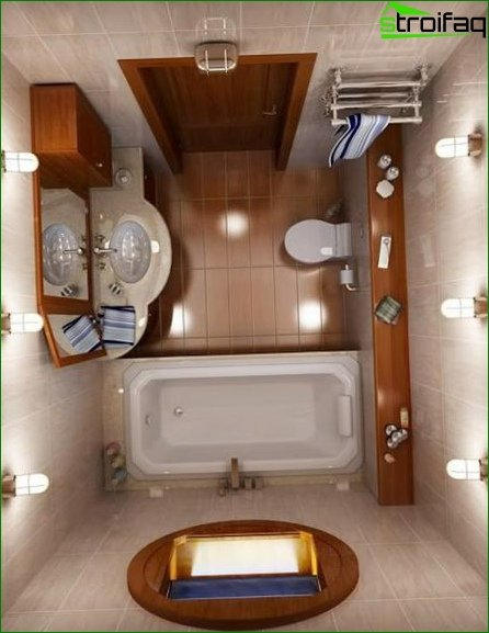 About the design of the combined toilet 2