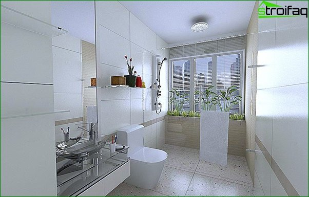 Tiles in the bathroom - 1