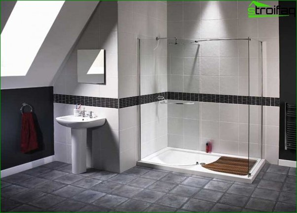 Wall decoration in the bathroom with tiles - 1