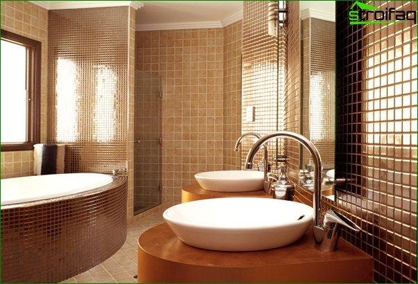 Walls in the bathroom (tile) -1