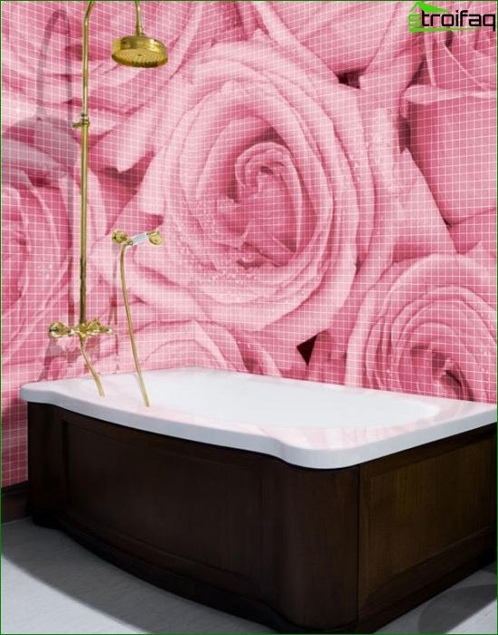 Walls in the bathroom (tile) -2