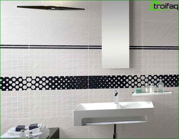 Walls in the bathroom (tile) - 5