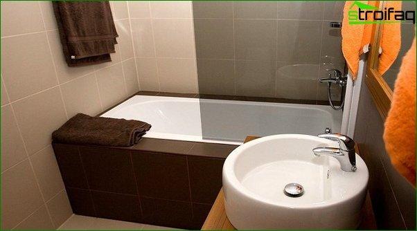 Tile for a bathroom in a prefabricated house - 3