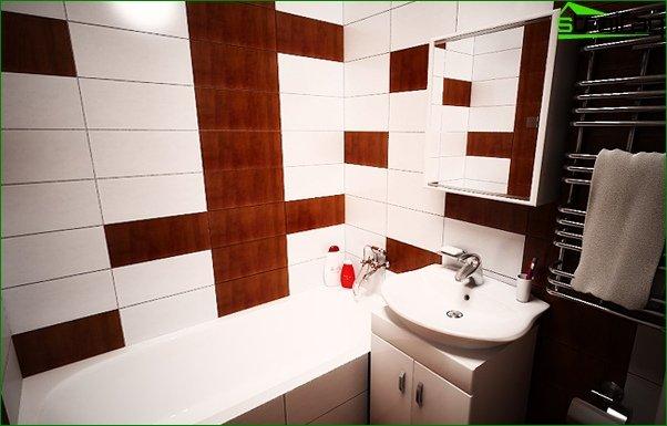Tile for a bathroom in a prefabricated house - 4