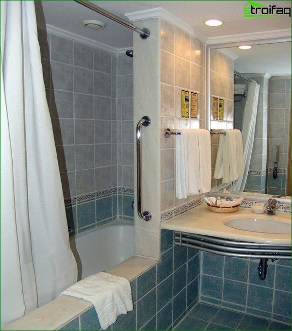 Tile for a bathroom in a prefabricated house - 6