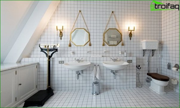 Tile for a bathroom in a private house - 1