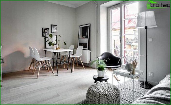 Apartamento tipo estudio de 23 m2. 1