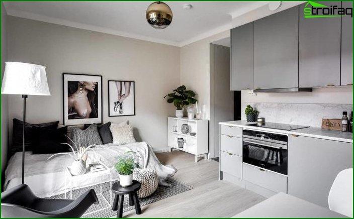 Apartamento tipo estudio de 23 m2. cinco
